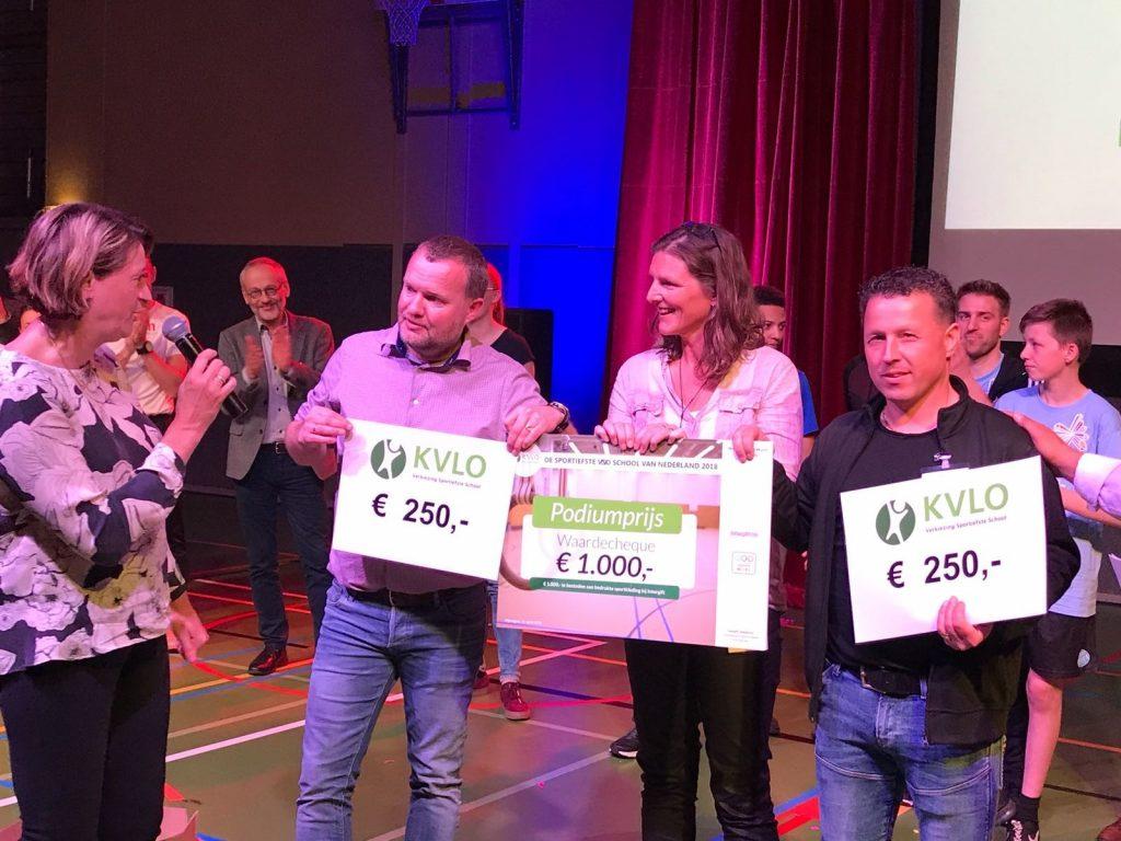 Podiumpresentatie e1524139236552 - Van Leeuwen Catering sponsort verkiezing sportiefste school
