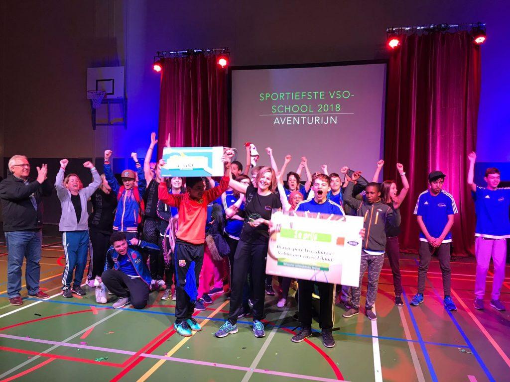 VSO Aventurijn e1524139069534 - Van Leeuwen Catering sponsort verkiezing sportiefste school