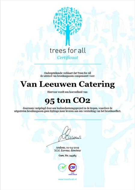 Treesforall certificaat - MVO Jaarverslag
