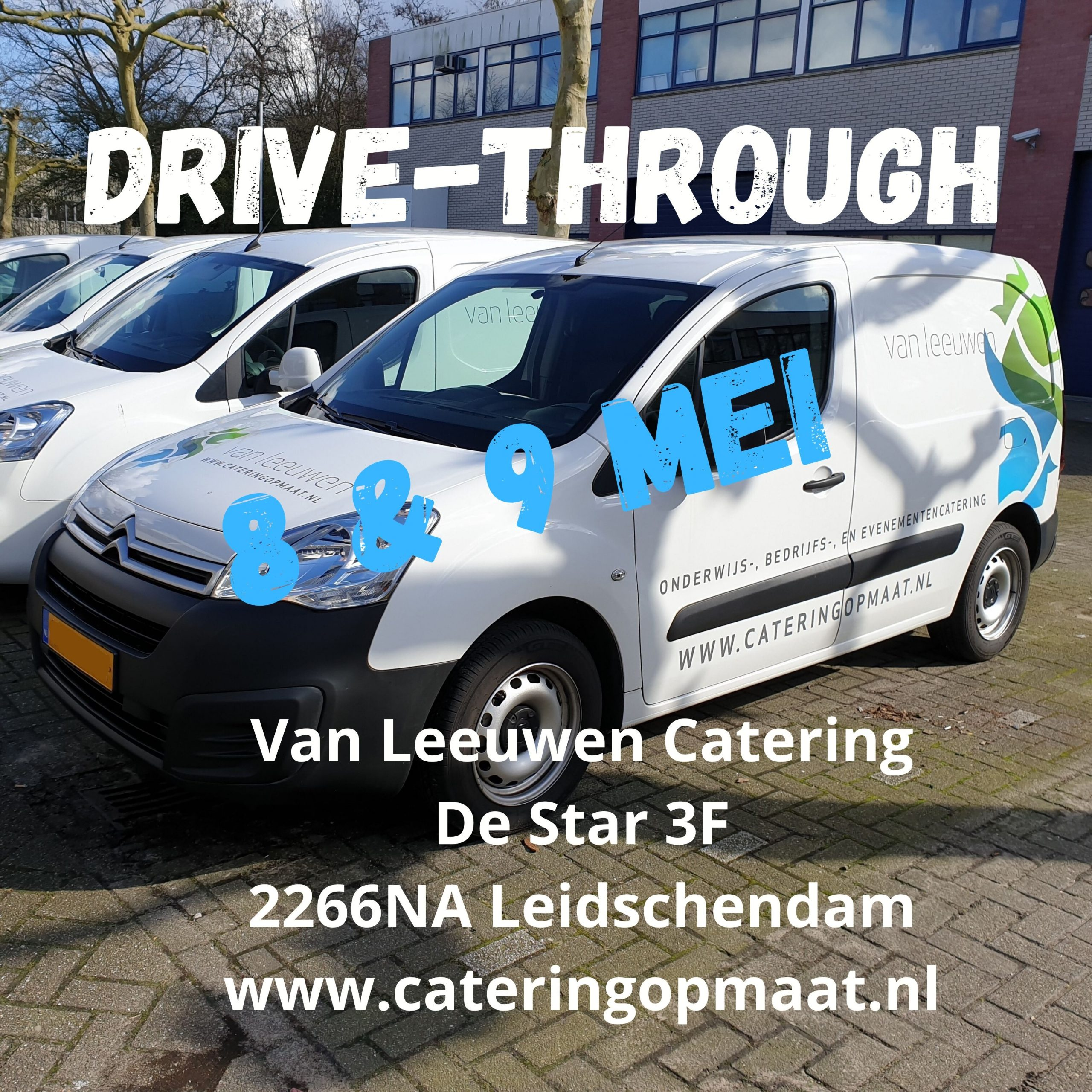 Drive through 8 en 9 mei 002 scaled - Van Leeuwen Catering organiseert drive-through